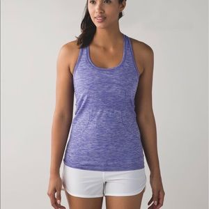 Lululemon Swiftly Racerback Heathered Iris Flower